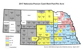Nebraska Map By The Numbers Who U0027s Paying How Much In Cash Rent Cropwatch