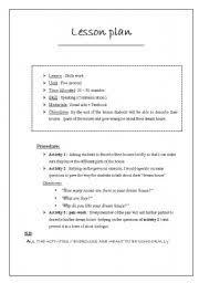 english worksheets lesson plan sample