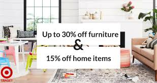 target offering 30 discount on target sale 30 furniture 15 home items southern savers