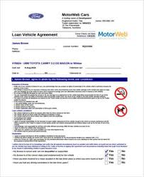 sample personal loan agreement forms 9 free documents in word pdf