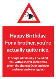 for a brother birthday card for brothers