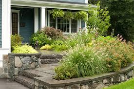 Sloped Front Yard Landscaping Ideas - sloped front yard landscape modern with front yard landscaping