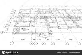 architectural plan detailed architectural plan perspective view stock photo
