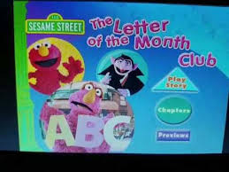 month club sesame the letter of the month club dvd menu