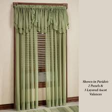 sheer curtains window treatments touch of class elegance ascot valance 60 x 24
