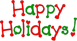 happy holidays and green text clipart