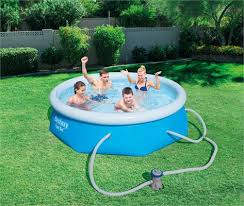 8 ft x 26 in bestway fast set pool