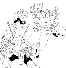 hellboy coloring pages goku vs hellboy lineart by kajinman on deviantart
