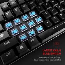 Keyboard Mechanical low profile mechanical keyboard havit hv kb395l 104 key rgb