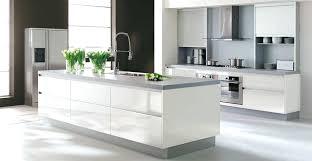 cuisine blanche et mur gris cuisine blanche deco de et ikea prix lolabanet com