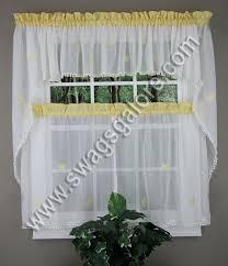 Lorraine Curtains Butterfly Gingham Kitchen Curtains Maize Lorraine Jabot
