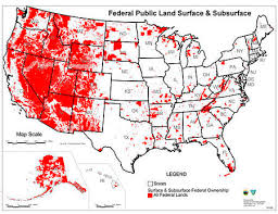 map of us federal states federal lands