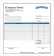 Service Invoice Template Excel Free Billing Invoice Template