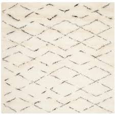 Square Area Rugs 7x7 Safavieh Classic Shag White 8 Ft X 8 Ft Square Area Rug Sg140a
