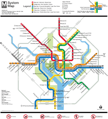 Map Of Washington by Map Of Metro Subway