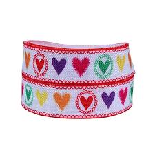 elastic ribbon wholesale flora ribbon wholesale colorful heart foe ribbons fold