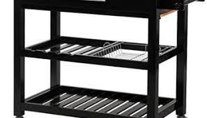 wooden kitchen storage cabinets khome black wood kitchen storage cabinet cart island with marble