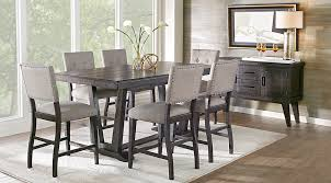 Counter Height Dining Room Furniture Hill Creek Black 5 Pc Counter Height Dining Room Dining Room