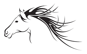 mustang horse silhouette horse head clip art many interesting cliparts