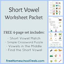 free short vowel worksheets short vowel match simple crossword