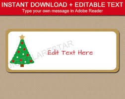 editable holiday address labels christmas return address