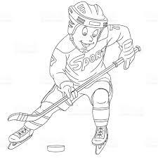 cute cartoon boy hockey player stock vector art 522469994 istock