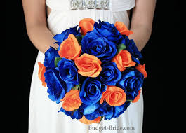 Blue Wedding Flowers Royal Blue And Orange Wedding Flowers