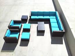 Rattan Outdoor Patio Furniture by 11pc Outdoor Patio Furniture Set Pe Wicker Rattan L Shape Sofa