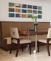 london booth dining table room transitional with modern drum