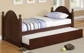 sienna twin bed with trundle cherry bed frames poundex furniture