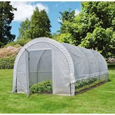 serre tunelle de jardin serre tunnel maraîchère edenia 18m2 nortene plantes et jardins