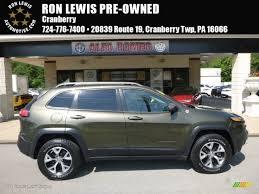 green jeep cherokee 2014 2014 eco green pearl jeep cherokee trailhawk 4x4 120990018