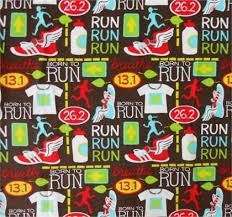 themed material run marathon flannel fabric by the half yard kids season home
