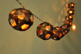 20 bulbs brown bamboo string lights for