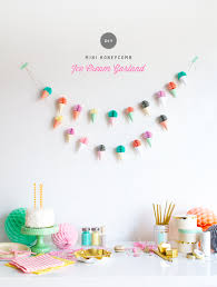 diy mini honeycomb garland