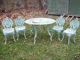 Antique Wrought Iron Patio Furniture by Cast Iron Patio Furniture Sets Foter
