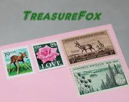 Stamps For Wedding Invitations Unused Vintage Postage Stamps For Mailing By Treasurefox On Etsy