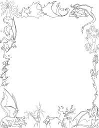 Halloween Paper Borders by Dragons And Mages Paper Border By Larutanrepus On Deviantart