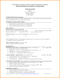 Resume Samples Retail Management by Utsa Resume Template Resume For Your Job Application