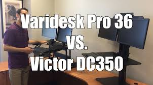 Sit Stand Desk Reviews Standing Desk Review Varidesk Pro Vs Victor Dc350 Standing Desk