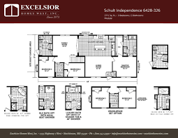 Floor Plans For Modular Homes by Schult Independence 6428 326 Excelsior Homes West Inc
