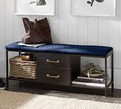 Storage Seating Bench Entryway U0026 Storage Benches Pottery Barn