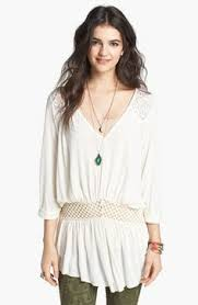 free people pieced lace tunic at free people clothing boutique