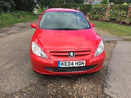 peugeot diesel estate cars for sale 2004 peugeot 307 hdi diesel estate car towbar sat nav long mot