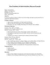 Resume Sample Vice President by Resume For Vp Of Sales And Marketing