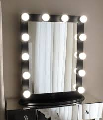 Tabletop Vanity Mirrors With Lights Hollywood Makeup Vanity Mirror White With Dimmer Tabletop Or Wall