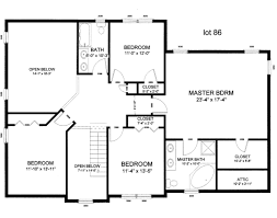 one bedroom home floor plans one story rectangular house plans on architectures design ideas