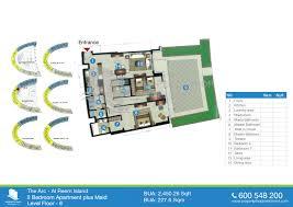 floor plans of the arc tower al reem island