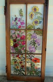 beautiful upcycled painted decorated windows woodworking plans