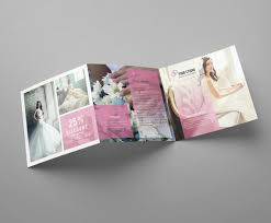 square trifold photography brochure template wedding